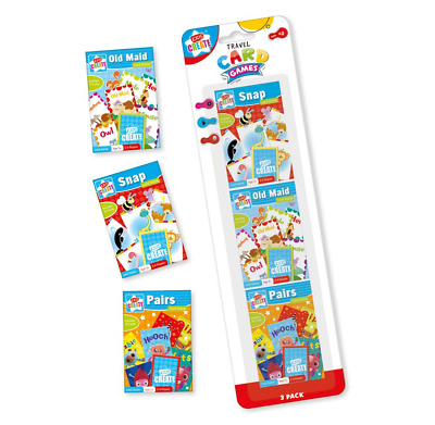 3 Packs of Childrens Classic Card Games Old Maid Snap Pairs Kids Learning Teach