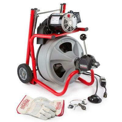 RIDGID Drain Cleaning Drum Machine 115-Volt K-400AF AUTOFEED Cable
