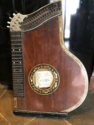 Antique harp guitar hand made in Chile