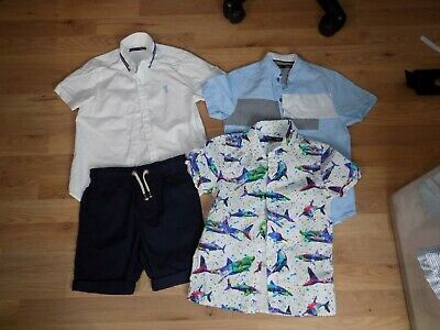 Boys ** Next ** Shirts Shorts Bundle X 4 Items Age 7Yrs 122Cm Summer