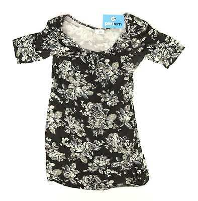 Ethel Austin Womens Size 14 Floral Black T-Shirt (Regular)