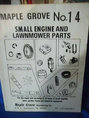 Vintage Maple Grove Small Engine and Lawnmower Parts Catalog