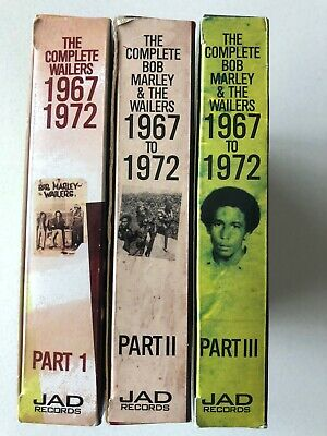The Complete Bob Marley & The Wailers 1967-1972 Pts 1-3 Box Set Cd's