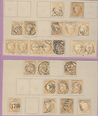 N°55 Lot Obliterations Paire Timbre Stamp Briefmarken