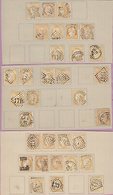 N°59 Lot Obliterations Paire Timbre Stamp Briefmarken