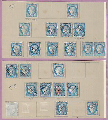 N°60A Lot Obliterations Paire Nsg Timbre Stamp Briefmarken
