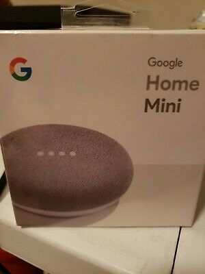 Google Home Mini with Google Assistant Voice Enabled Chalk Grey New In Retail