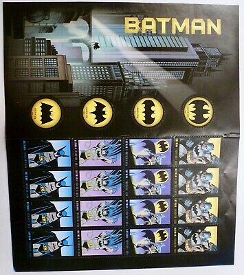 Batman 75th Anniversary USPS Postage Stamps Full Sheet 20 Forever Stamps Unused