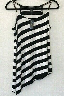 White House Black Market Striped Top - NWT - S - Assymetrical Hem