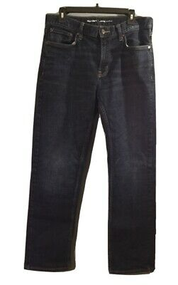 Old Navy Mens Ample Classic Loose Fit Denim Jeans Dark Blue Wash Size 33 X 32