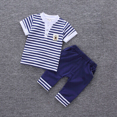 Toddler Kids Boys Outfit Sets Clothes Clothing Infant Baby Boy T-shirt + Pants
