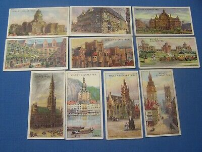 Cigarette cards Wills 1915 Gems of Belgian Architecture' 10/50