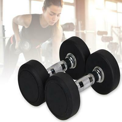 1pc Professional Dumbbells Rubber Encased Weights Dumbbell Gym Fitness Equipment
