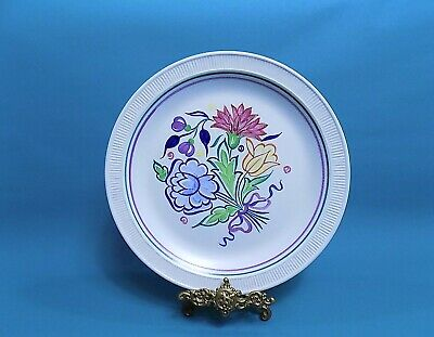 Poole Pottery Hand Painted Floral Dinner Plate
