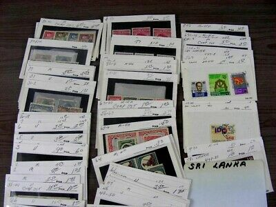 SOUTHERN RHODESIA, Sri Lanka,  Excellent assortment of Stamps in stock cards