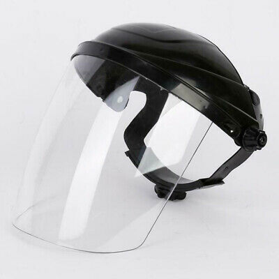 Head-mounted Full Face Safety Shield Tool Clear Glasses Eye Protection Grinding
