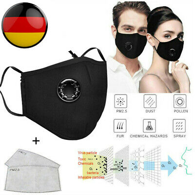 PM2.5 Respirator Face Mask Mouth Dust Haze Anti Pollution Air Purifying Reusable