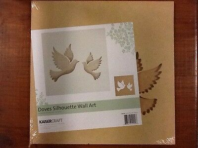 Kaisercraft beyond the page Silhouette Wall Art, Doves. scrapbooking, Craft.