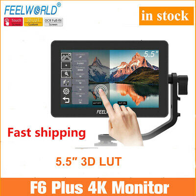 "New FEELWORLD F6 PLUS 5.5"" 3D LUT Touch Screen 1920x1080 Camera Field  Monitor"