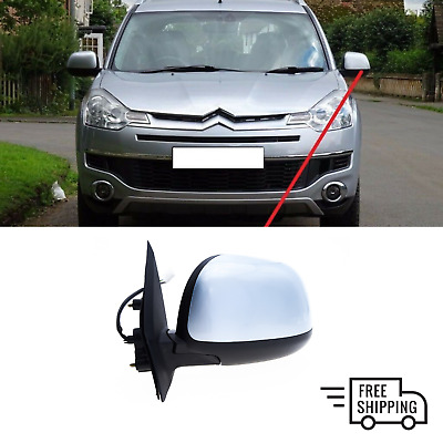 FOR CITROEN C3 2002-2010 NEW WING MIRROR MANUAL BLACK LEFT N/S LHD ...