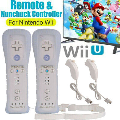 Built in Motion Plus Remote Nunchuck Controller White for Classic Wii & Wii U