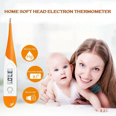 2 Pcs Thermometer Medical Baby Adult Body Safe Soft Oral Thermometer Digital LCD