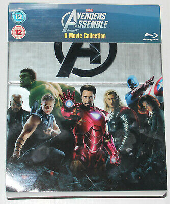 Marvel's Avengers Assemble Movie Collection (first 6 movies) Hulk Thor Iron Man