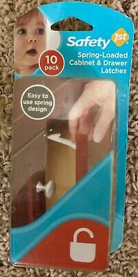 Safety 1st Spring-Loaded Cabinet & Drawer Latches 10 Pack