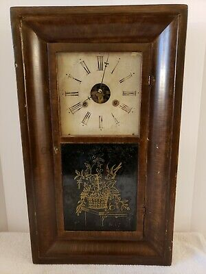 Antique Working 1860's WATERBURY CLOCK CO. OGEE OG Weight Driven Mantel Clock