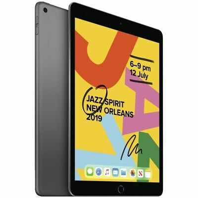 Apple iPad 7th Generation A2200 32GB Unlocked Tablet-Space Gray-Great