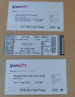 Used Concert Tickets - free Postage