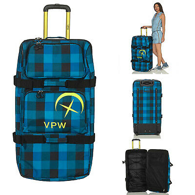 VÖLKL PERFORMANCE WEAR Reise Tasche Koffer Trolley Rolling Duffle Denim 120 L S