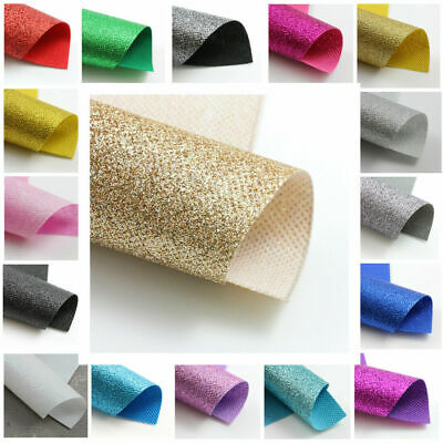 Fine Glitter Fabric A4 / A5 Sheets Sparkle 17 Colours Crafts Hair Bows Uk