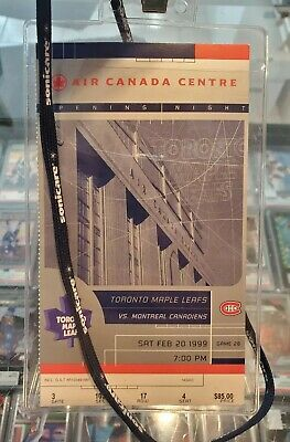 1999 Toronto Maple Leafs Opening Night Game Air Canada Center Canadiens 2/20/99