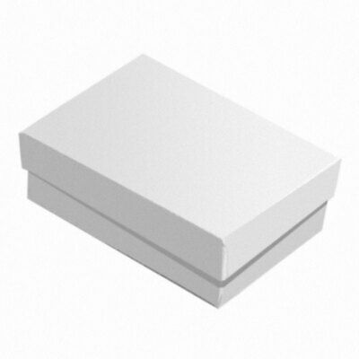 100 Glossy White Cotton Filled Jewelry Packaging Earring Ring Pendant Gift Boxes