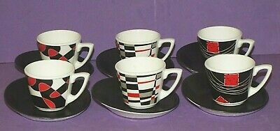 Steelite Sheer Cone Espresso Cups & Saucers 85ml Coffee Cups SET OF 6 New