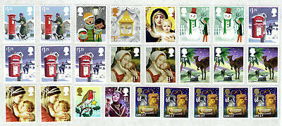 Assortment of Xmas Higher Values Unfranked Self-Adhesive Stamps  FV £27.33