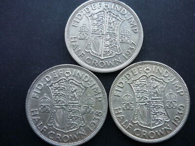 George VI Silver Half-Crowns 1937 - 1939