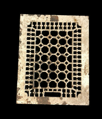 Antique Cast Iron Heating Grate Vent Cover Only Honeycomb Design 14 X 11