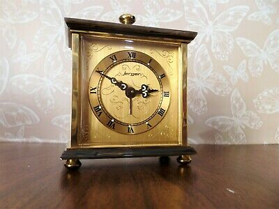 Vintage Brass and Marble Wind-up German Clock