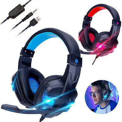 For PS4 Xbox One Nintendo Switch PC 3.5mm Wired Gaming Headset Stereo Headphones