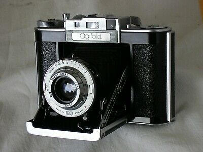 Agilux Agifold, f/4.5, 1 -1/350th, late lever wind model, all wkg, film tested,