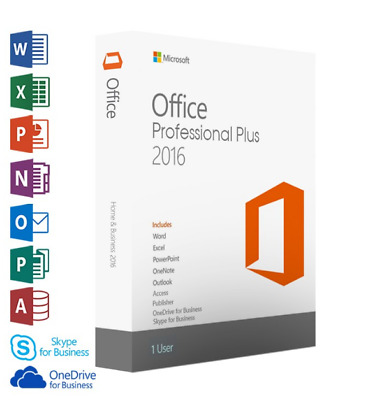 MICROSOFT OFFICE 2016 PROFESSIONAL PLUS 32/64bit License Key Instant Delivery