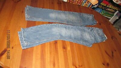 2 pairs  boy's  blue trendy denim jeans - , size 9 -10 years, height 134 - 140cm
