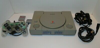Sony PlayStation PS1 Console System Controller Memory Card Bundle SCPH-1001