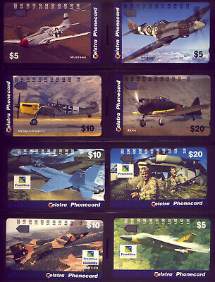 16 Mint Phonecards: Aeroplanes: Face Value = $150  Low  Reserve