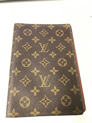 LOUIS VUITTON MALLETIER Monogram Agenda Address Insert Cover Folder NICE*