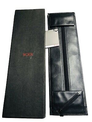 TUMI Black Leather Zip Travel Tie Case