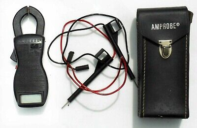 Vintage AMPROBE meter ACD-7 with leather case