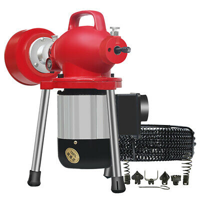 220V Electric Pipe Dredging Machine Kitchen Toilet Drain Cleaner Sewer Dredger